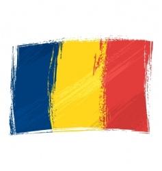 grunge Chad flag vector image