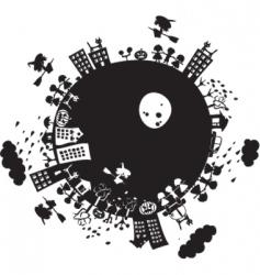 Halloween planet vector