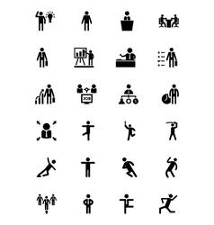 Human icons 3 vector