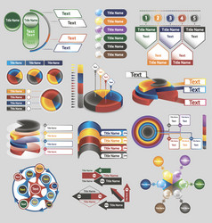 infographics for business presentations vector image