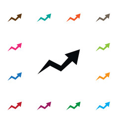 Isolated arrow up icon increase element vector