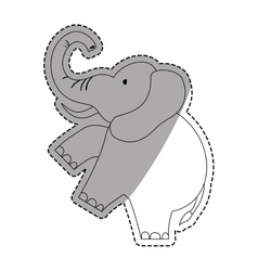 Isolated elephant cartoon vector