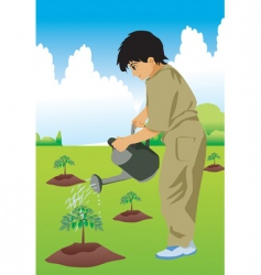 kid hose plant vector image vector image