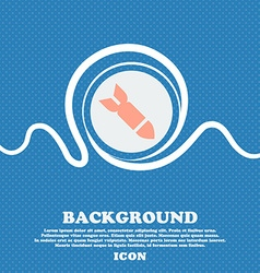 Missilerocket weapon sign icon blue and white vector