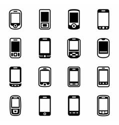 Mobile phone icon set vector