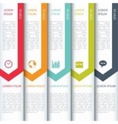 Modern minimalistic multicolour infographics vector