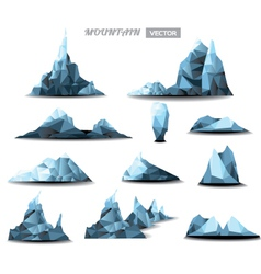 Mountain polygonal set background vector