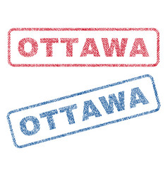 Ottawa textile stamps vector