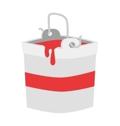 Paint bucket color ink vector