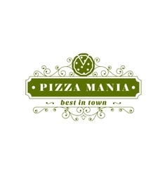 Pizza restaurant banner vector