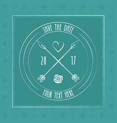 Save the date card decoration invitation arrow vector