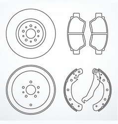 Set of brake parts vector