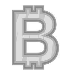 Sign bat icon black monochrome style vector image vector image
