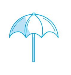 Silhouette nice umbrella open to protect of sun vector