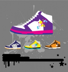 sneaker illustration vector image vector image