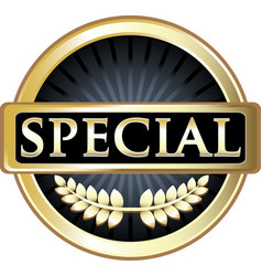 special gold icon vector image vector image