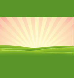 spring morning sky vector image vector image