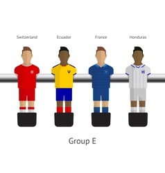 Table football soccer players Group E vector image