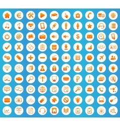 Webdesign icons round set vector