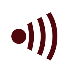 wifi icon wireless internet sign communication vector image