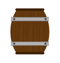 Wooden barrel wine icon vector
