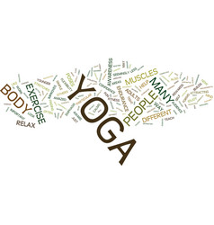 Yoga an exercise for everyone text background vector