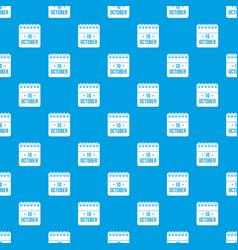 10 october calendar pattern seamless blue vector image vector image