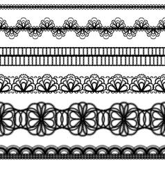 lace borders set vector image