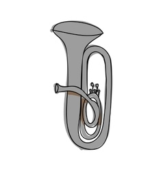 Tuba instrument icon image vector