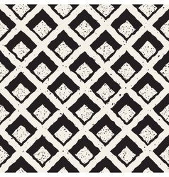 Seamless hand painted line rhombus grid vector