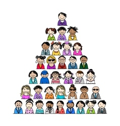 Pyramid of people icons for your design vector