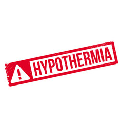 Hypothermia rubber stamp vector
