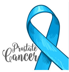 Prostate cancer awareness month banner poster vector