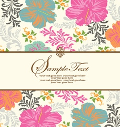 Spring floral background with place for text vector