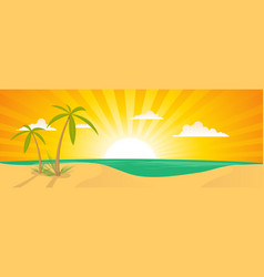 summer exotic beach landscape banner vector image