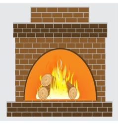 Heater from brick vector