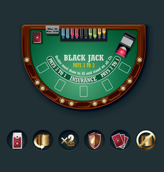 blackjack table layout vector image