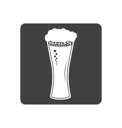 Beer in glass icon simple vector