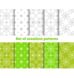 Geometrical seamless pattern gray green tile vector