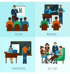 University people set vector