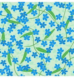 forget me not seamless background vector image