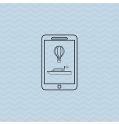 Smartphone and travel icon design vector