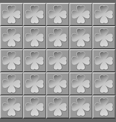 Abstract pattern clover gray vector