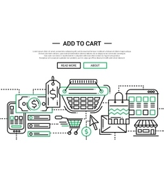 Add to cart - line design website banner temlate vector