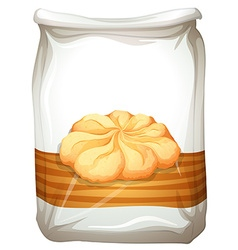 Bag of butter cookies vector