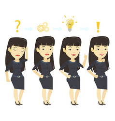 Businesswoman during business planning vector