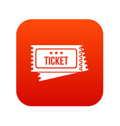 Circus show tickets icon digital red vector