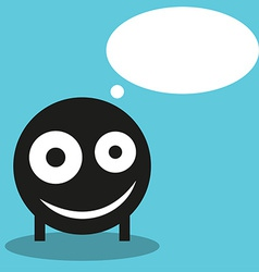 Cute monster with speech balloon vector image vector image
