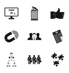 Employee icons set simple style vector
