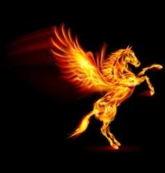 Fair Horse Pegas on hind legs 01 vector image vector image